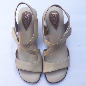 EUC Clark's Artisan ivory leather strappy sandal